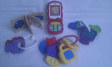 Adorable My 1st Baby Talking Fisher Price Mobile Phone & Pram Toys